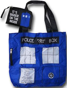 Tardis Foldable Tote Bag