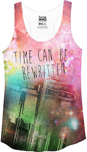 Shop for your Tardis Time Can Be Rewritten Tank Top