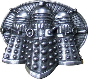 Metal Dalek Belt Buckle