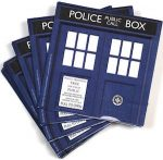 Doctor Who Blue Tardis Napkins