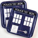Doctor Who Tardis Doors Paper Plates