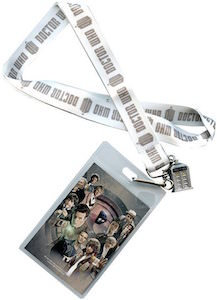 Doctor Who Logo Chrome Effect Lanyard