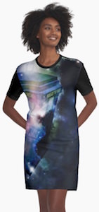 Tardis In Space Women's T-Shirt Dress