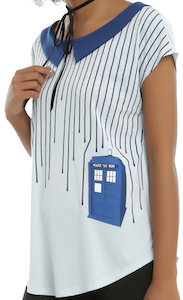 Doctor Who Women's Dripping On The Tardis Top