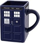 Square Ceramic Tardis Mug