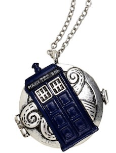 Tardis Compass Pendant Necklace