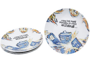 Doctor Who Van Gogh Exploding Tardis Plates