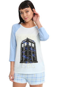 Women's Tardis Universe Sleep Set
