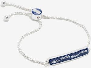 Wibbly Wobbly Timey Wimey ID Style Bracelet