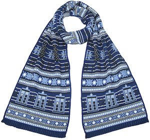 Tardis And Dalek Holiday Scarf