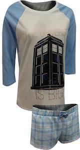 Doctor Who Women's Tardis The Universe Is Big Pajama Set