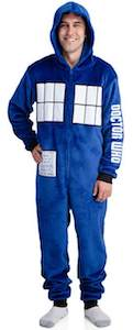 Doctor Who Fleece Tardis Onesie