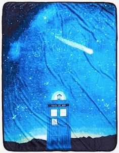 Doctor Who Tardis And The Night Sky Blanket