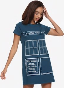 The Doors Of The Tardis T-Shirt Dress