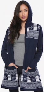 Tardis Hooded Cardigan