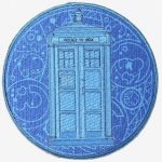 Dr Who Blue Tardis Patch