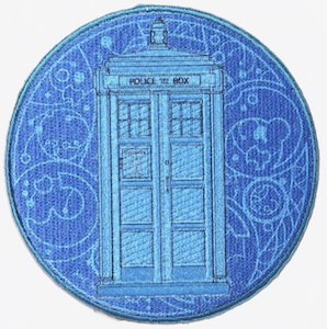 Blue Tardis Patch