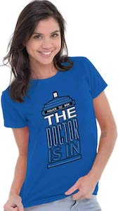 The Doctor Is In The Tardis T-Shirt