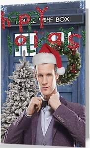 11th Doctor Happy Holidays Greetings Card