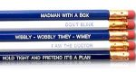 Doctor Who Quotes Pencils