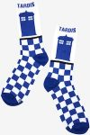 Doctor Who Tardis Checkered Socks