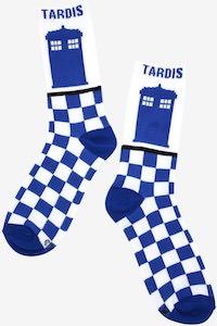 Tardis Checkered Socks