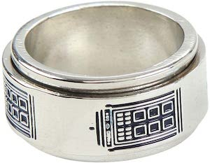 Tardis Spinner Ring
