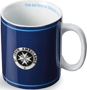 St John Ambulance And Tardis Sign Mug