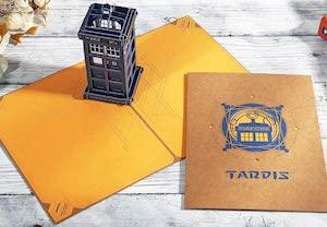 3D Tardis Greeting Card