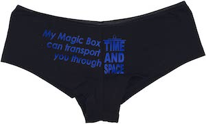 Doctor Who Tardis My Magic Box Panties