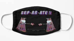 Doctor Who Dalek Separate Face Mask