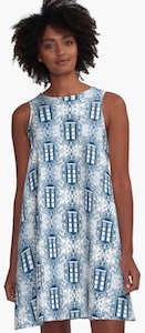 Doctor Who Damask Style Tardis Dress