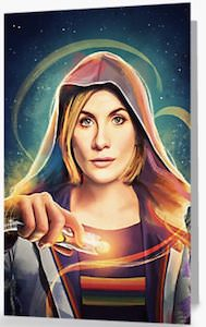 13th Doctor And her Sonic Screwdriver Greeting Card