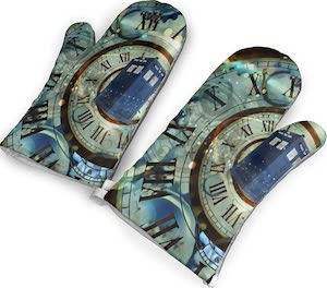 Tardis Time Traveling Oven Mitts
