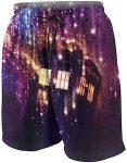 Doctor Who Tardis And A Purple Galaxy Swim Shorts