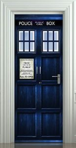 Doctor Who Tardis Door Poster & Doctor Who Tardis Door Sticker / Poster