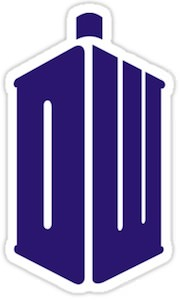 Doctor Who Tardis Logo Sticker