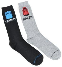 Tardis And Dalek Socks