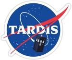 Doctor Who Tardis Space Program Sticker