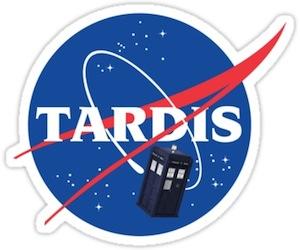 Tardis Space Program Sticker
