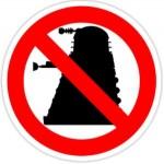 Doctor Who dalek not allowed sticker