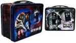 dr. who 1st and 11th Doctor Action Figure and Lunch Box