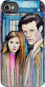 Amy Pond And The Doctor iPhone Case