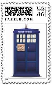 Dr. Who Tardis Postage Stamp