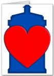 Dr. Who Tardis Big Heart Valentine's Day Card