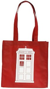 Dr. Who Red Tardis Tote Bag
