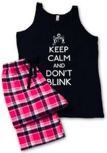 Doctor Who Weeping Angels pajama's