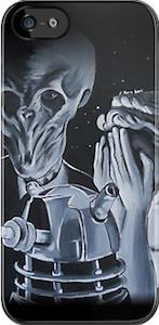 The Silence Dalek And Angel Phone Case