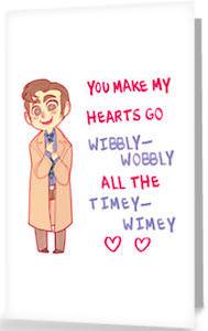 Doctor Who Wibbly-Wobbly Timey-Wimey Valentine's Card