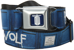 Dr. Who Bad Wolf Seat Belt Style Belt